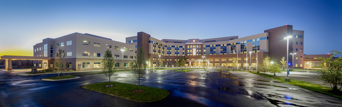 architectural photography, photographer, exterior photography, matt dula, hospital